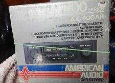 american audio car radio and tape player refer to picure auto reverse