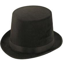 Gents Unisex Top Hat Indestructible Men's Black Lincoln Velour Topper Hat 1920s