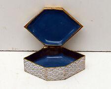 Vintage Cloisonne Jewelry Tinket Box Floral Design