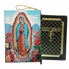 Our Lady of Guadalupe Bible Book Tapestry Pouch Reversible Case Purse 11 3/4""