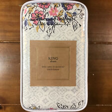New Cupcakes and Cashmere Block Print Floral Multi King Pillow Sham