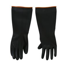 """Pair Chemical Resistance Industry Elbow Long Rubber Gloves 18"""" Length F6Y6 R9"""