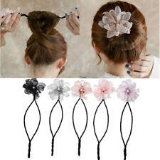 Women Flower Dounts Twist Foam Sponge Hairdisk Magic Donut Hair Styling Tools