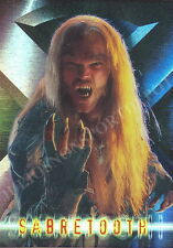 X-MEN THE MOVIE 2000 TOPPS X-FOIL INSERT CARD 9 OF 10 SABRETOOTH RETAIL MA