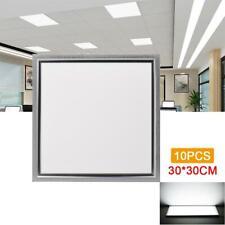 10Pcs 12W LED Panel Deckenleuchte 30x30cm Einbauleuchte Lampe Kaltweiß IP65