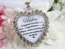 Bridesmaid Quote Bouquet Charm Sparkling Diamantés Wedding Gift Accessories
