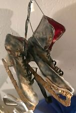 Antique Vintage Ice Skates Lodge Wall Hanger