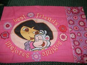 DORA the EXPLORER Monkey BEST FRIENDs 3pc TWIN Sheet Set Pillow Case Flat Fitted
