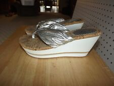Womens Jessica Simpson Sandals - silver - size 7