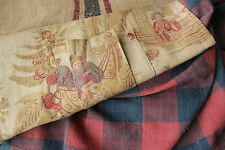 French fabric Antique & Vintage materials ~ wonderful check pattern + linen