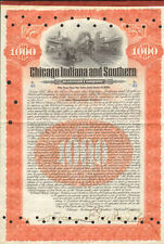 Chicago Indiana and Southern Railroad > 1906 $1,000 gold bond certificate