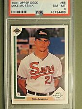 1991 Upper Deck  Mike Mussina  RC   #65  PSA 8  NM-MT  Combined Shipping