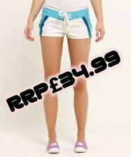NEUF RRP £ 34.99 Grande Taille Femme Superdry Huntington Boardshorts Aqua SVD BNWT