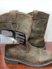 Men's Wolverine W08180 Rancher Square Toe Brown Leather Boots Size 12Ew half b