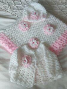 Crochet Baby Blanket, Hat And Cardigan