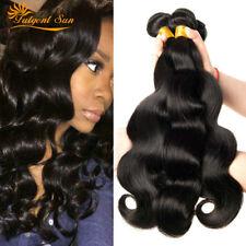 3 Bundle Brazilian Virgin Hair Body Wave Human Hair Extension 300g Natural Black