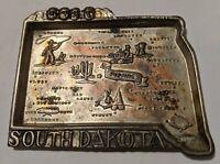Mount Rushmore South Dakota Metal Ashtray Trinket Dish - Made in Japan