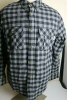 Men's Field & Stream Black Plaid Flannel Shirt Size Large, New with Tags