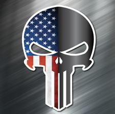 1 Punisher American Flag Vinyl Decal Stickers Car United States Usa Molon Lobe