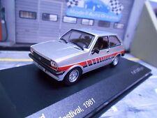 Ford fiesta MKI 1 festival 1981 plata Silver Klein carro Ixo White Box 1:43