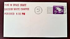 APOLLO 1 FIRE IN CRAFT - FDC CANCELLED ON THE DAY - JANUARY 27, 1967 - RARE