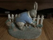 Vintage Cast Iron Peter Rabbit Door Stop Hubley