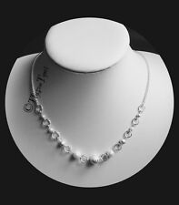 Bridal / Wedding / Evening Necklace...White  Pearl &  Silver...