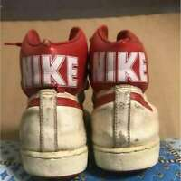 Rare Nike Vintage Shoes with Big Nike Logo Men's Sneakers US9.5 From JAPAN