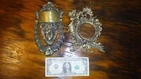Vintage  1920's Cast Brass Door knocker and 1940's picture frame