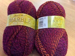 *James Brett Marble DK 100g x 240m BALLS (Wine multi Shade MT27)(100% Acrylic)
