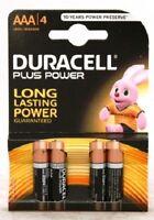 ds Confezione 4 Pile Batterie Duracell Plus Power AAA MiniStilo Lr03 Mn2400 hsb