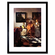 Painting Vermeer Musical Trio Old Master Framed Print 12x16 Inch