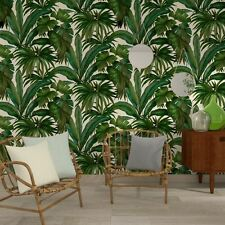 VERSACE GIUNGLA PALM LEAVES WALLPAPER - GREEN / CREAM - 96240-5