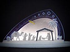 3D LED Arco de Luces Vidrio Acrílico con Madera Christi Nacimiento 47x22 10668