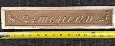 Antique American Cash Register Brass Drawer Front
