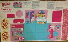 Fabric Panel Barbie Fold & Go Bathroom w/accessories to make. 2002