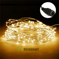 Warm White 10M/33FT 100LED Copper Wire String Party Xmas Decoration Fairy Light