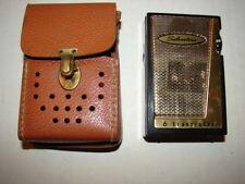 Vintage Silvertone 6 Transistor Radio with Leather Case Model 2202 Black Sears