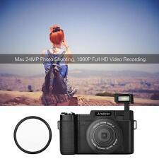 Andoer 1080P HD 24MP Digital SLR Camera 4X Zoom With Flashlight + UV Filter U7H3