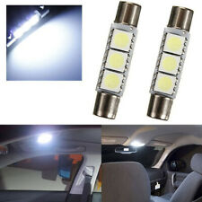 4PCS HID 3-SMD 31mm 6641 Fuse LED Bulbs Vanity Mirror Light Sun Visor Lamp White