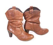 2fc4f0abfc8d9f 25S Akira Damen Stiefel Stiefeletten Slouchy Boots Leder braun Gr. 40