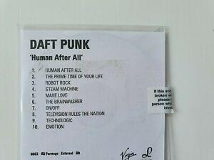 DAFT PUNK CD PROMO 10 TITRES HUMAN AFTER ALL