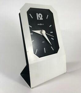 Vintage 1980s Howard Miller Clock Post-Modern Bauhaus 80s Design Retro