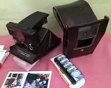 Polaroid SX-70 Land Camera Sonnar AF, getestet, mit Ledertasche.