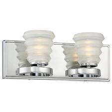 Good Lumens by Madison Avenue 2-Light Chrome LED Bath Vanity Light -NON-CA (NIB)