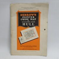 Burrows Pointer Guide Map of Hull Vintage 60s? City Plan READ DESC inc UK P+P