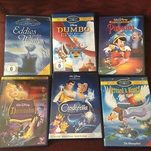 Walt Disney, Dumbo, Pinocchio, Dornröschen, Cinderella, Bernard und Bianca, u.m.
