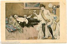 Artist Signed F. TOUSSAINT . érotique . prostituée . grivois . prostitute. saucy
