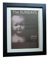 THE SUNDAYS+Blind+POSTER+AD+ORIGINAL 1992+TOP QUALITY FRAMED+EXPRESS GLOBAL SHIP