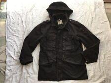 Top Man Black Secret Hood Winter Coat Jacket Small Used S Bargain Zips Pockets